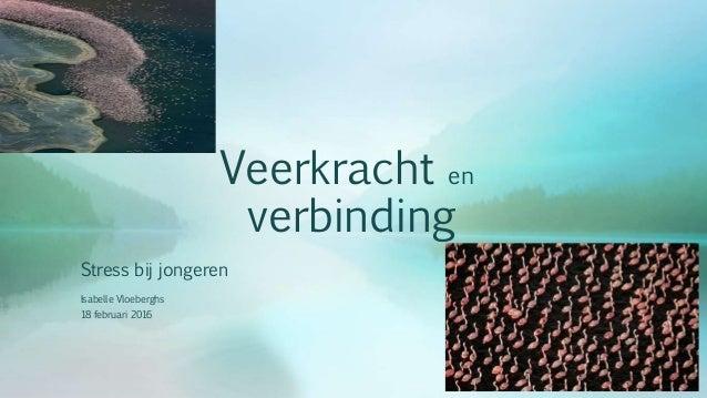 Veerkracht en verbinding Stress bij jongeren Isabelle Vloeberghs 18 februari 2016