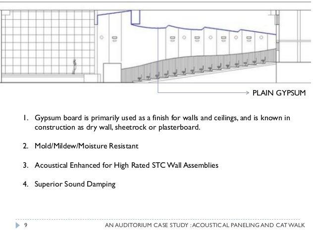 auditorium acoustics claim study