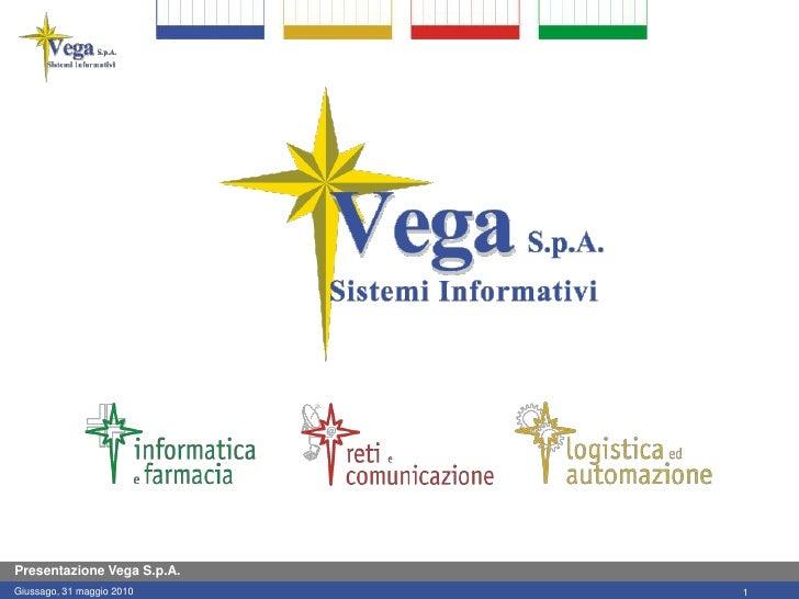 Presentazione Vega S.p.A. Giussago, 31 maggio 2010    1