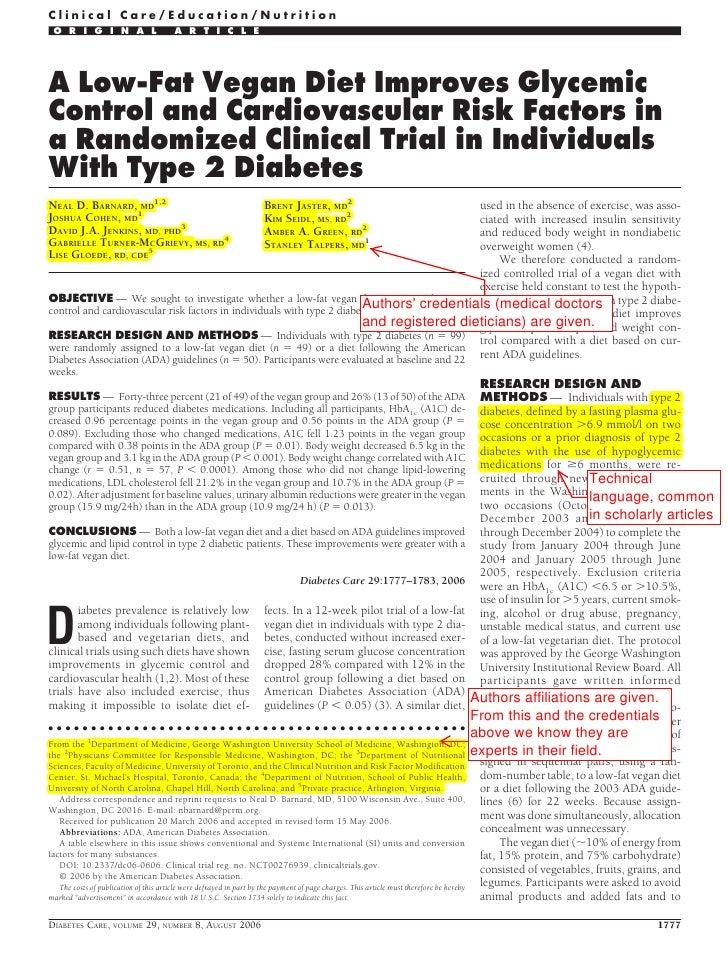 Clinical Care/Education/Nutrition O R I G I N A L                        A R T I C L EA Low-Fat Vegan Diet Improves Glycem...