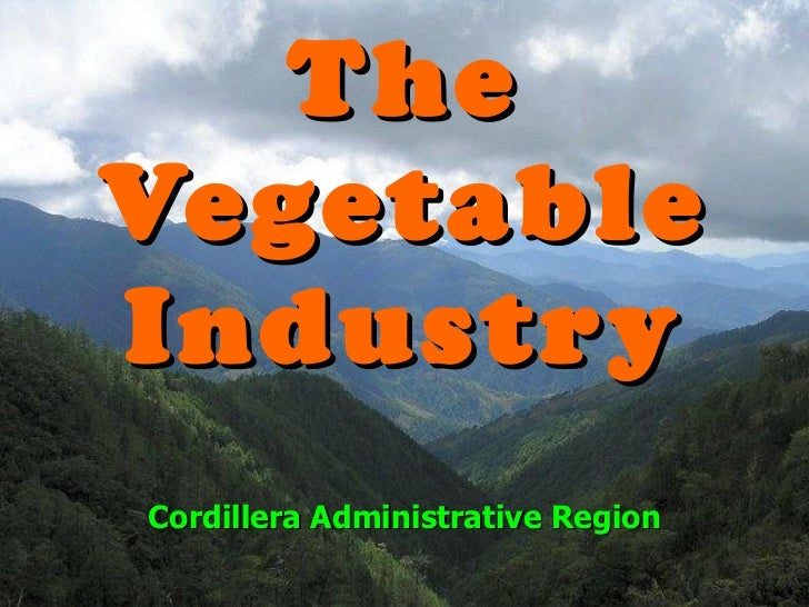 The Vegetable Industry Cordillera Administrative Region