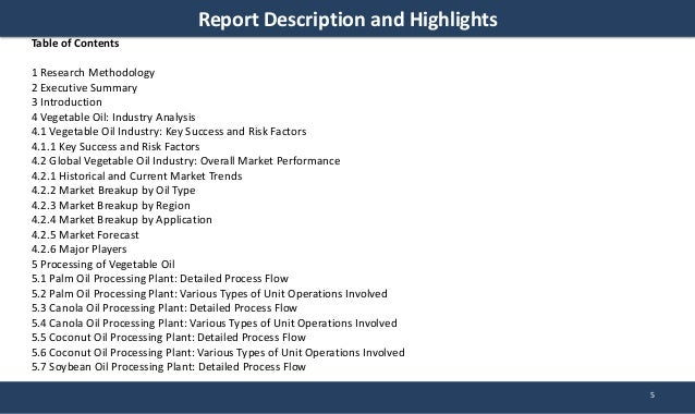 vegetable oil refinery project report 2 Vegetable oil refinery project report vegetable oil refinery 10 introduction: vegetable oil and fat resources are indispensable to mankind as a source of nutrient and.