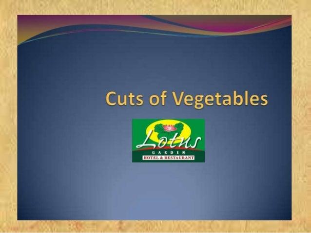 •Potongan sayur yang berbentuk seperti batang korek api, biasa ditemukan pada salad, tumis sayur, sup atau acar. •Julienne...