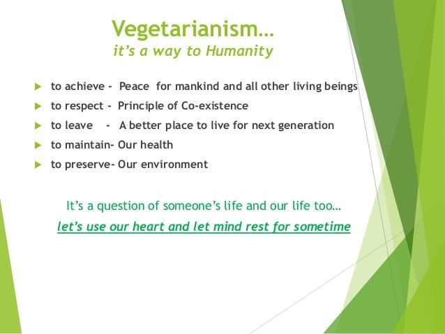 Essay on vegetarianism is a way to live healthy