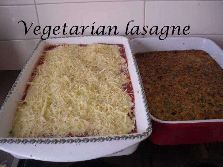 Vegetarian lasagne<br />Vegetarian lasagne<br />