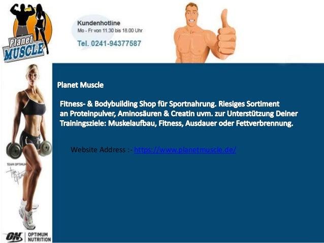 Fitness- & Bodybuilding Shop für Sportnahrung. Riesiges Sortiment an Proteinpulver, Aminosäuren & Creatin uvm. zur Unterst...