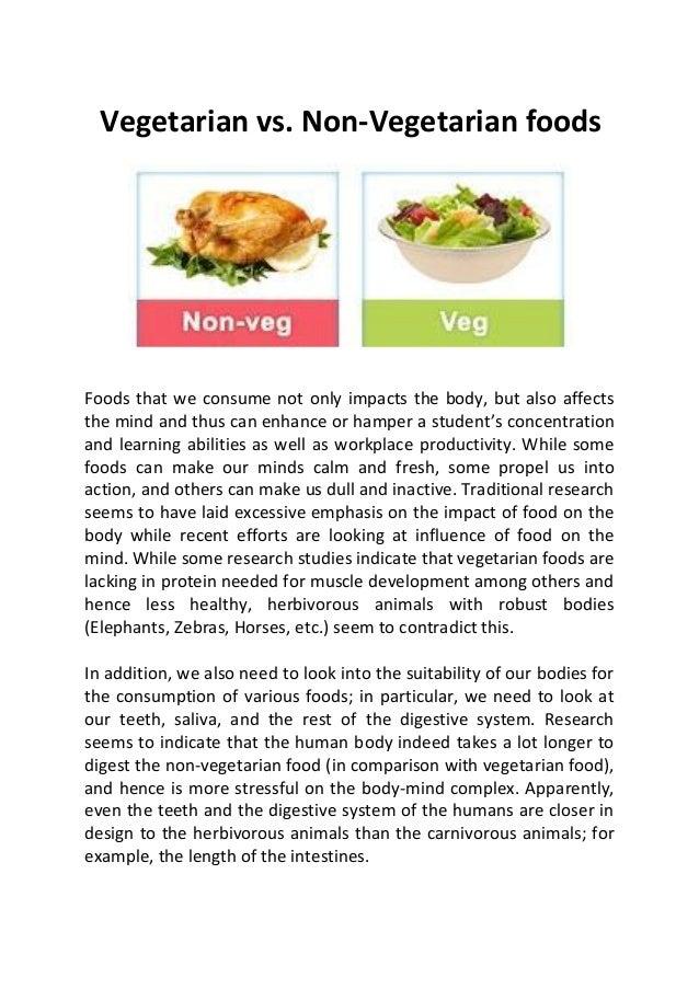 Vegetarian vs non vegetarian foods for V kitchen restaurant vegetarian food