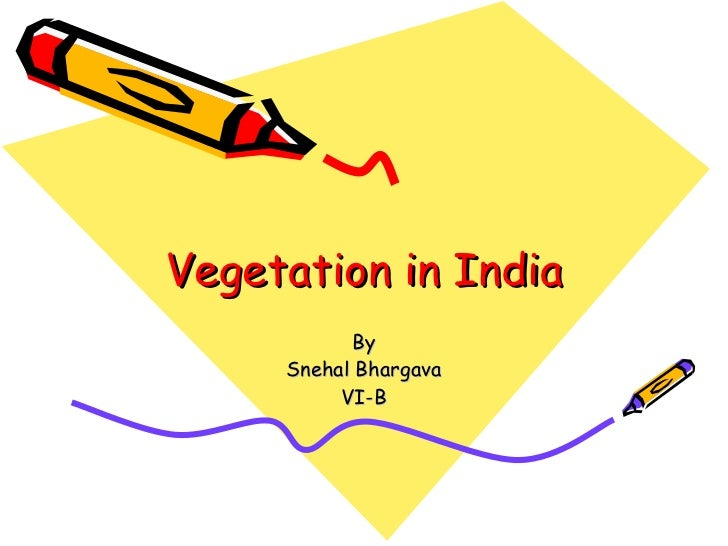 Vegetation in India By Snehal Bhargava VI-B