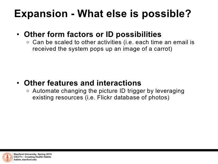 Expansion - What else is possible? <ul><ul><li>Other form factors or ID possibilities </li></ul></ul><ul><ul><ul><li>Can b...