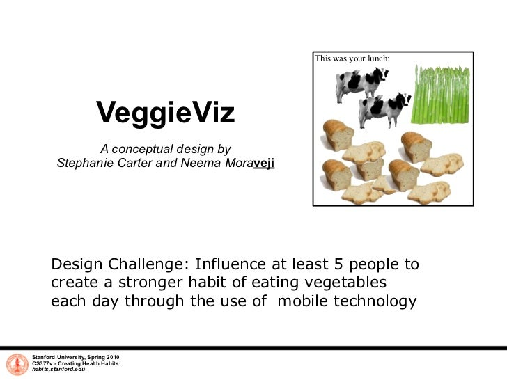 This was your lunch:                            VeggieViz                A conceptual design by         Stephanie Carter a...
