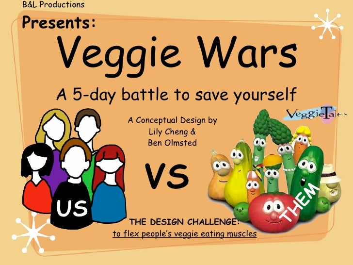 B&L Productions  Presents:         Veggie Wars        A 5-day battle to save yourself                      A Conceptual De...
