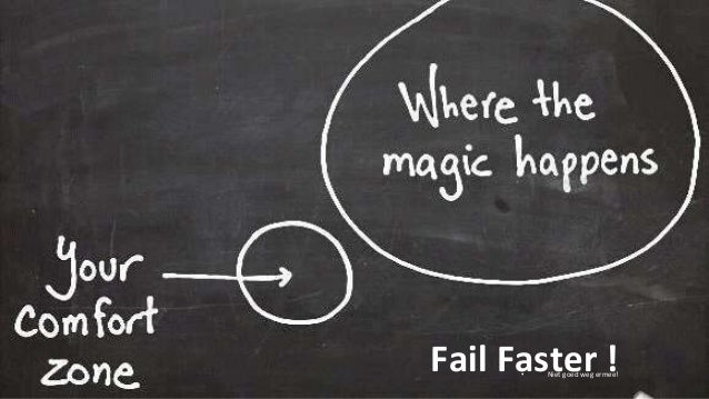22 Fail Faster !• Niet goed weg ermee!