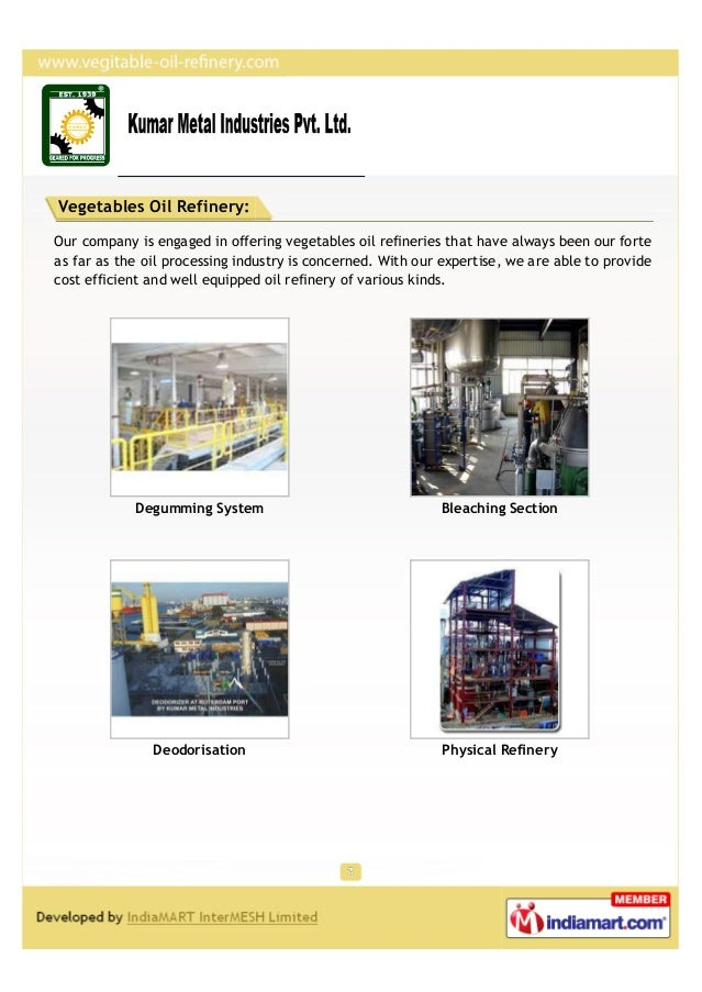 Vegetables Oil Refinery:Our company is engaged in offering vegetables oil refineries that have always been our forteas far...