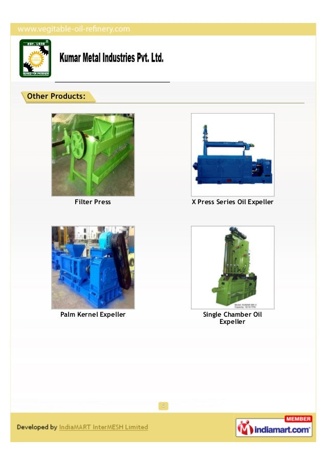 Other Products:            Filter Press       X Press Series Oil Expeller        Palm Kernel Expeller      Single Chamber ...