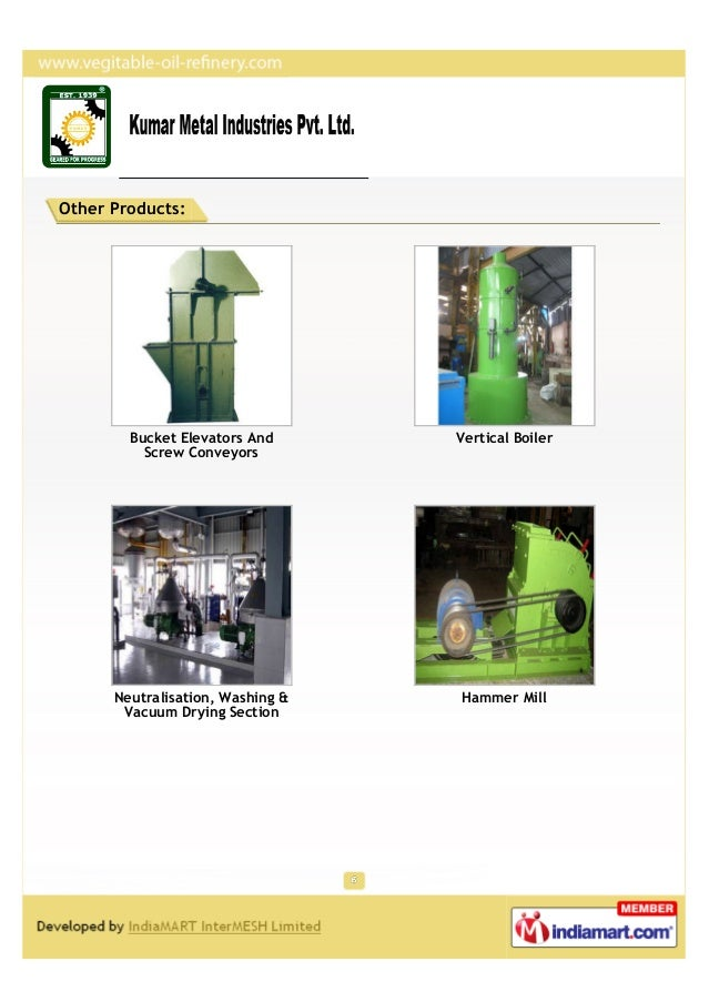 Other Products:        Bucket Elevators And      Vertical Boiler          Screw Conveyors      Neutralisation, Washing &  ...