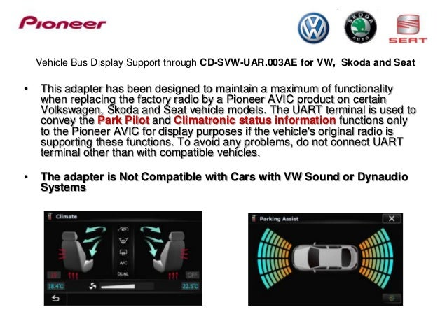 Ford Focus C Max 2004 Problems >> Vehicle Bus display support on Pioneer AVIC products