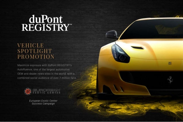 duPont REGISTRY Vehicle Spotlight Promotion