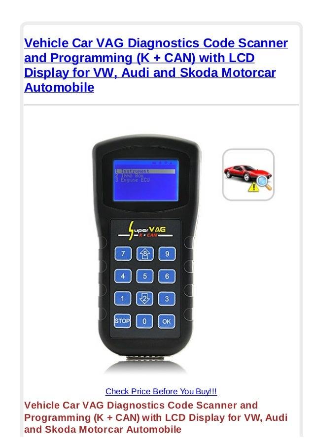 Vehicle car vag diagnostics code scanner and programming (k + can) wi…