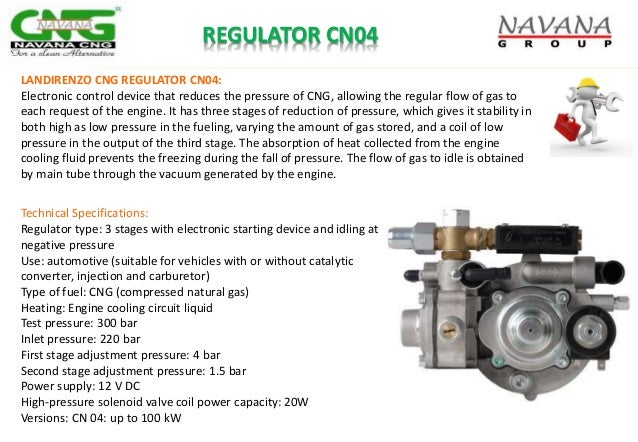 REGULATOR CN04 Technical Specifications: Regulator type: 3 stages with electronic starting device and idling at negative p...