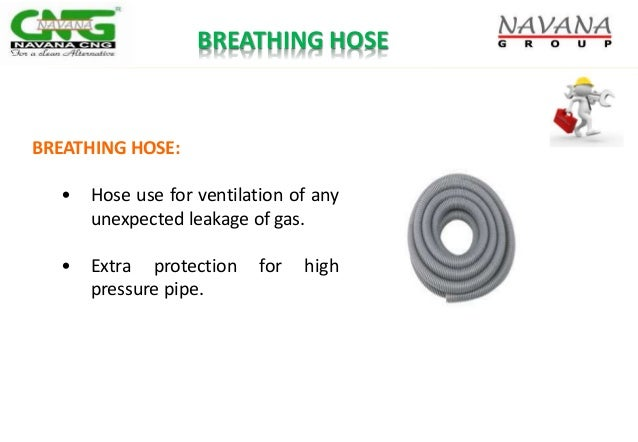 BREATHING HOSE: • Hose use for ventilation of any unexpected leakage of gas. • Extra protection for high pressure pipe. BR...