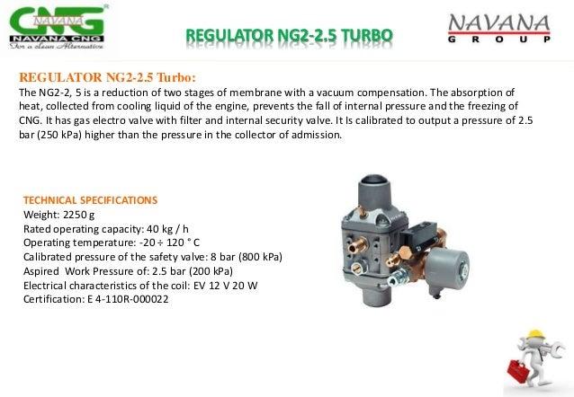 REGULATOR NG2-2.5 TURBO REGULATOR NG2-2.5 Turbo: The NG2-2, 5 is a reduction of two stages of membrane with a vacuum compe...