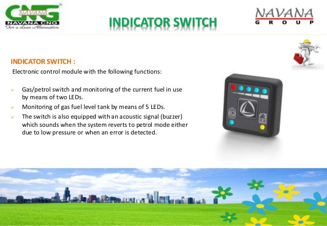 INDICATOR SWITCH INDICATOR SWITCH : Electronic control module with the following functions:  Gas/petrol switch and monito...