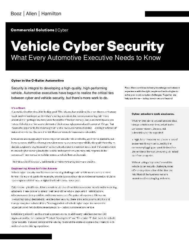 Security is integral to developing a high-quality, high-performing vehicle. Automotive executives have begun to realize th...