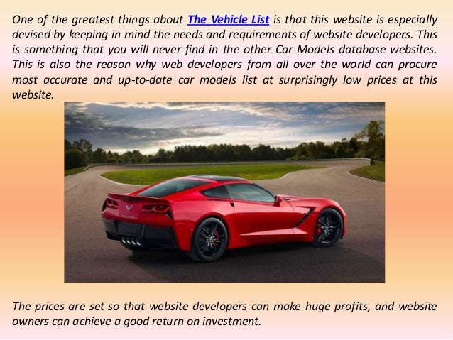 Most Reliable Source to Get the Best Car Model Database