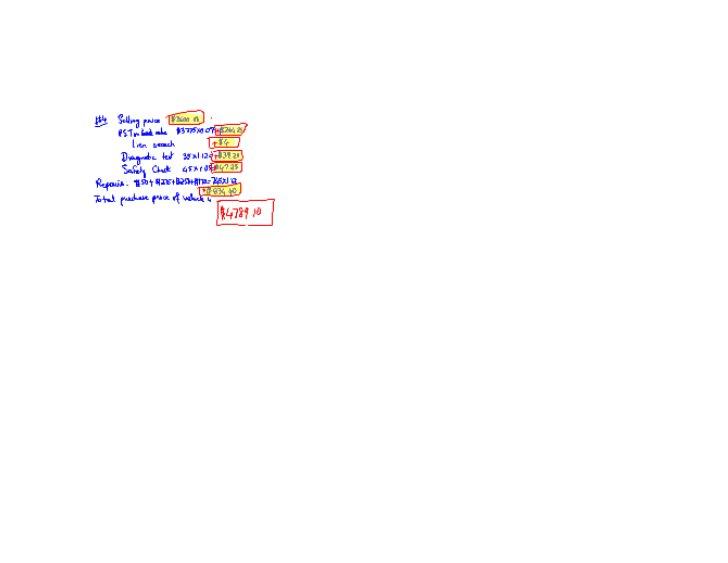 Vehicle finance lesson 4