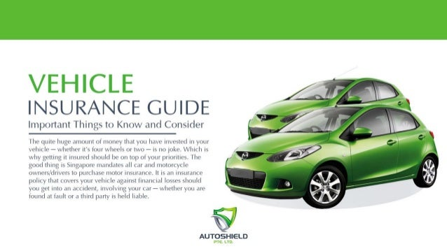 Vehicle insurance guide important things to know and consider