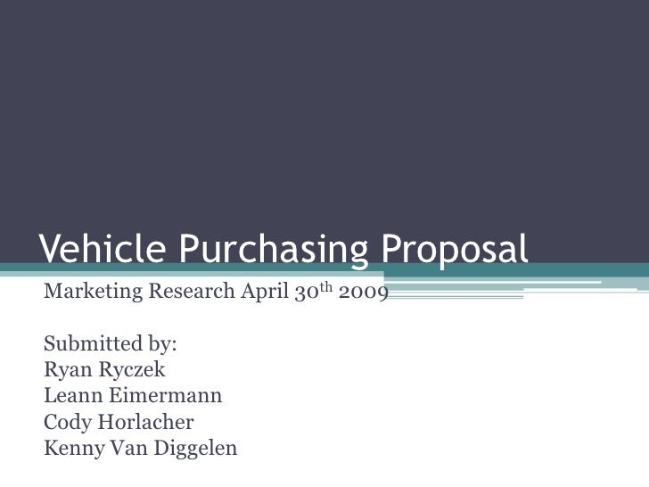 Vehicle Purchasing Market Research Proposal