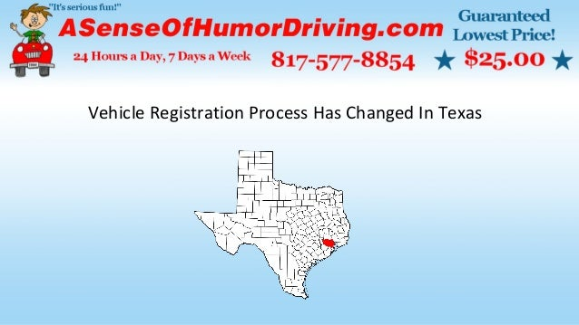 Vehicle Registration Has Changed In Texas