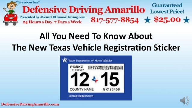 Car Sticker Renewal Texas