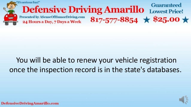 You will be able to renew your vehicle registration once the inspection record is in the state's databases.
