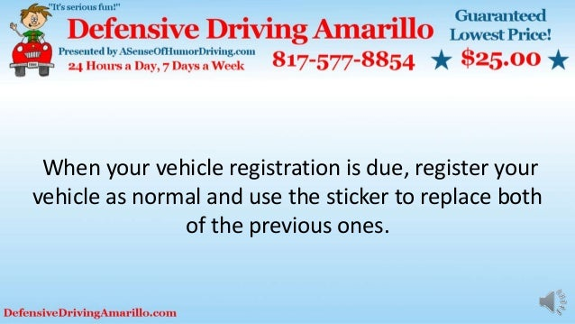 When your vehicle registration is due, register your vehicle as normal and use the sticker to replace both of the previous...