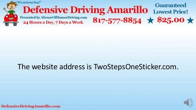 The website address is TwoStepsOneSticker.com.