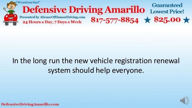 In the long run the new vehicle registration renewal system should help everyone.