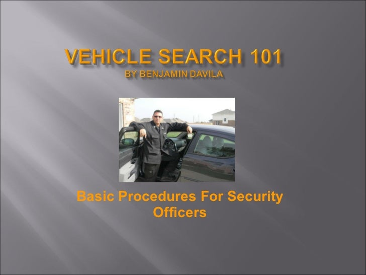 Vehicle Search 101