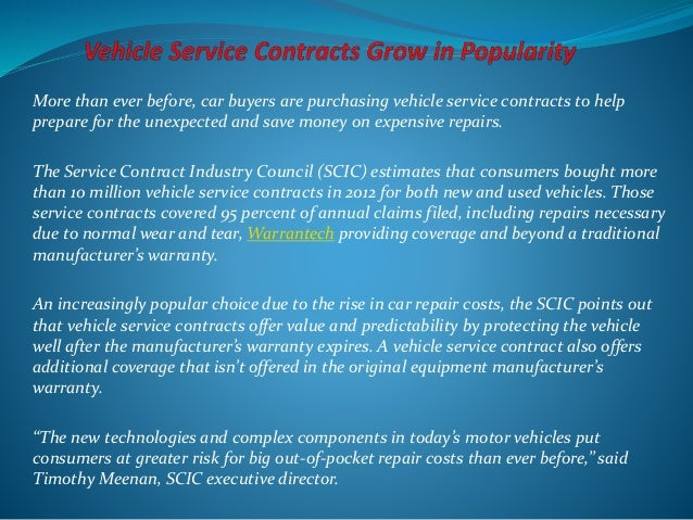 More Than Ever Before, Car Buyers Are Purchasing Vehicle Service Contracts  To Help Prepare For U201c ...