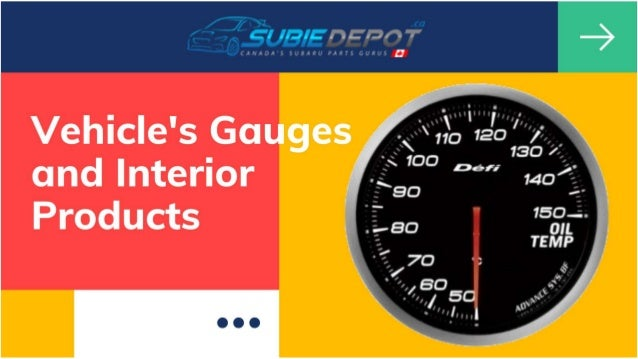 Vehicle's Gauges and Interior Products at SubieDepot