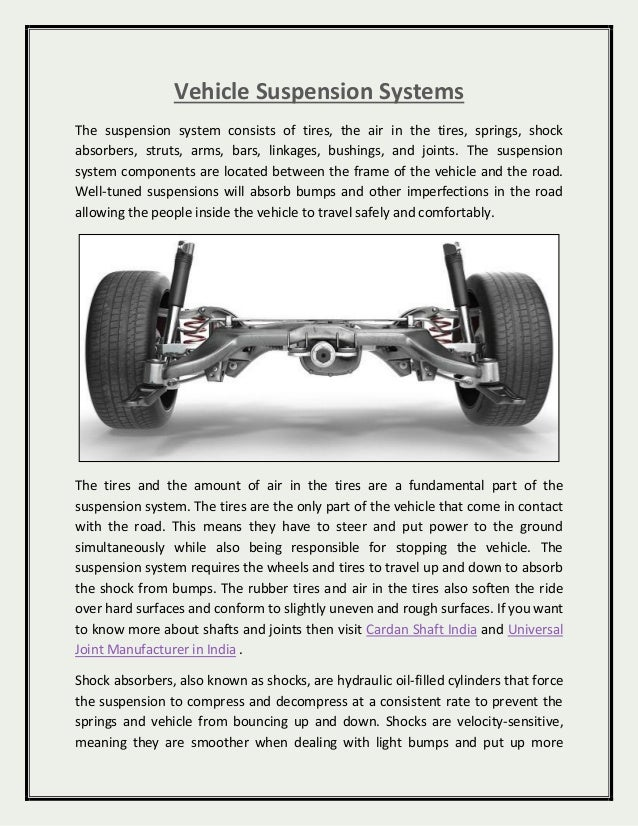 Vehicle Suspension Systems