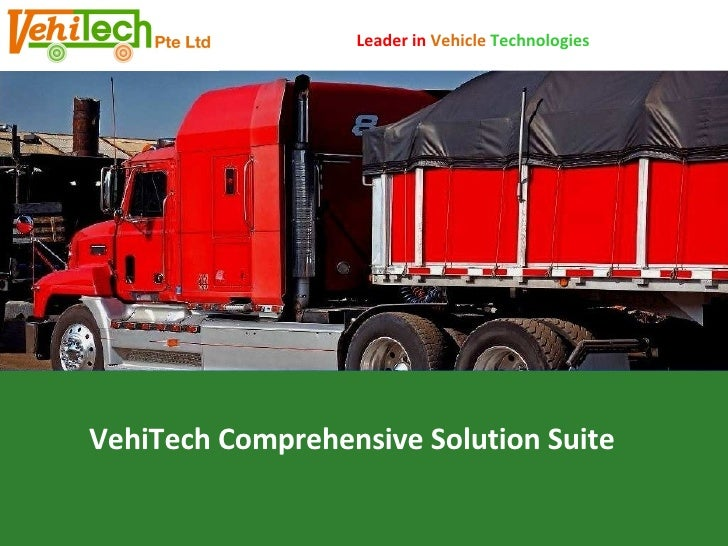 VehiTech Comprehensive Solution Suite Leader in  Vehicle   Technologies