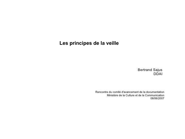 Bertrand Sajus DDAI Rencontre du comité d'avancement de la documentation Ministère de la Culture et de la Communication 08...