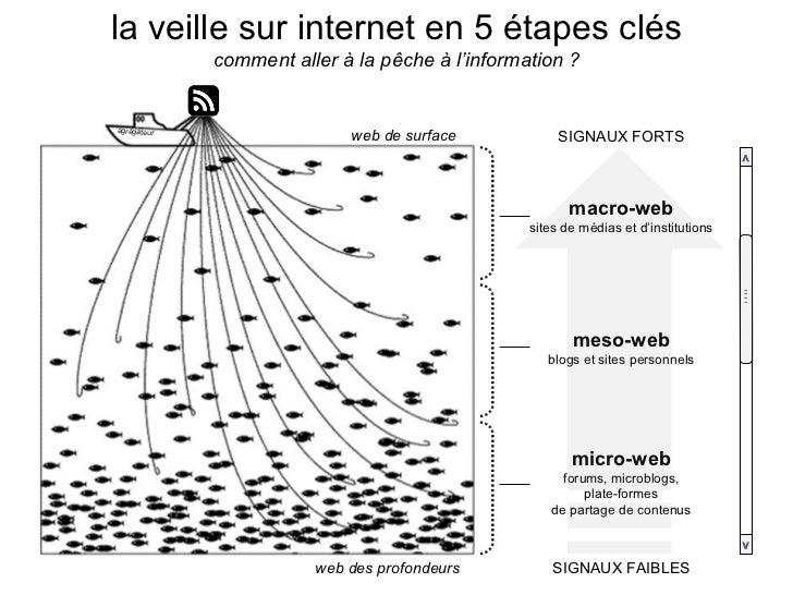 la veille sur internet en 5 étapes clés comment aller à la pêche à l'information ? macro-web sites de médias et d'institut...