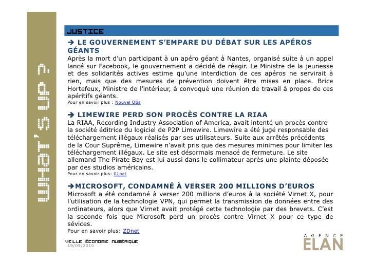 Veille numérique 19.05.2010 Slide 3