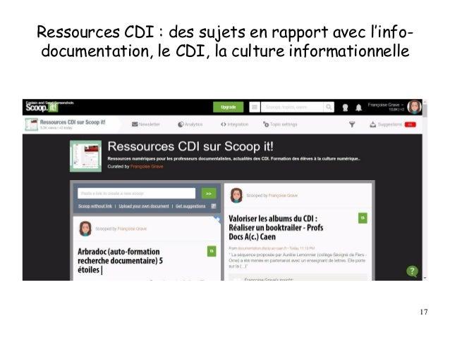 Ressources CDI : des sujets en rapport avec l'info- documentation, le CDI, la culture informationnelle 17