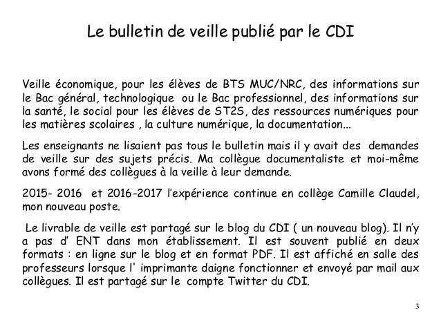 Le bulletin de veille publié par le CDI Veille économique, pour les élèves de BTS MUC/NRC, des informations sur le Bac gén...