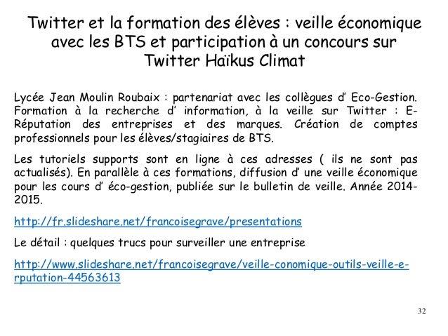 Twitter et la formation des élèves : veille économique avec les BTS et participation à un concours sur Twitter Haïkus Clim...