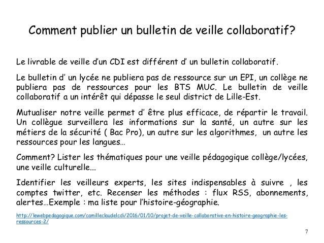 Comment publier un bulletin de veille collaboratif? Le livrable de veille d'un CDI est différent d' un bulletin collaborat...
