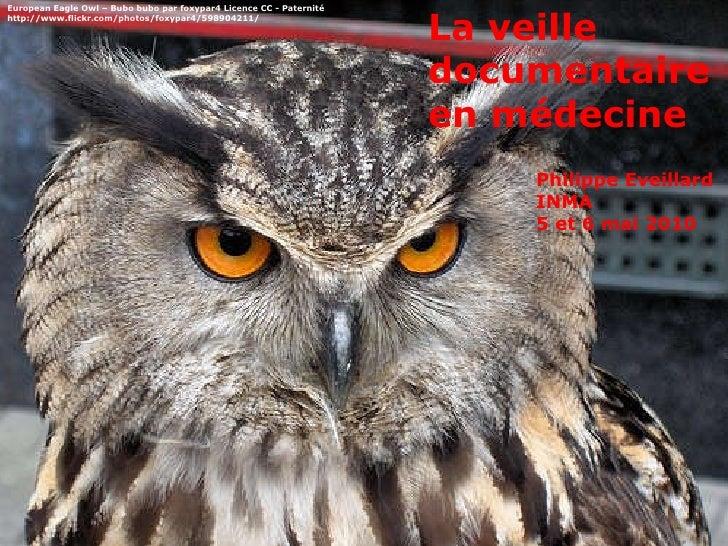 Philippe Eveillard INMA 5 et 6 mai 2010 La veille documentaire en médecine European Eagle Owl – Bubo bubo par foxypar4 Lic...